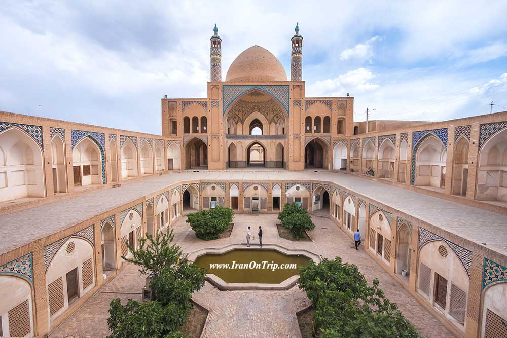 Historical Agha Bozorg Mosque in Kashan Iran