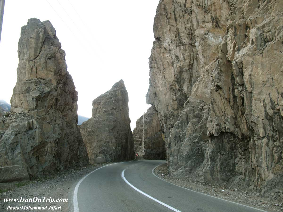 Chalus Road in Iran - Chaloos Road of Iran - dangerous roads of the World