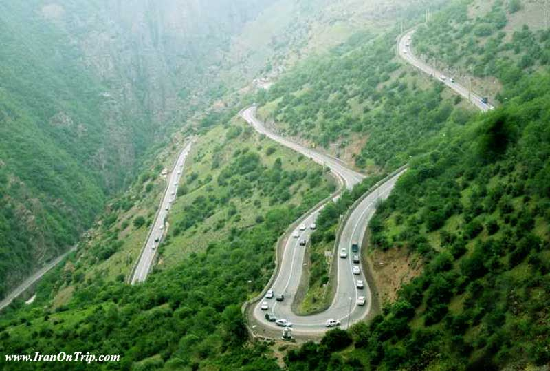 Chalus Road in Iran - Chaloos Road of Iran - Roads of Iran - dangerous roads of the World