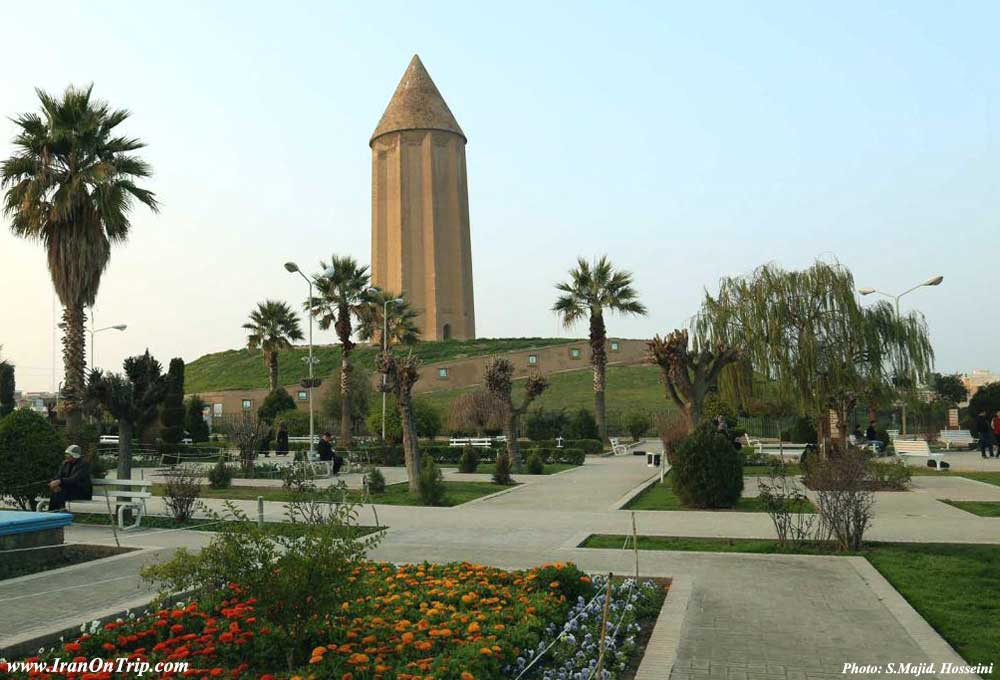 Qabus tower in Golestan Iran - Historical Towers of Iran