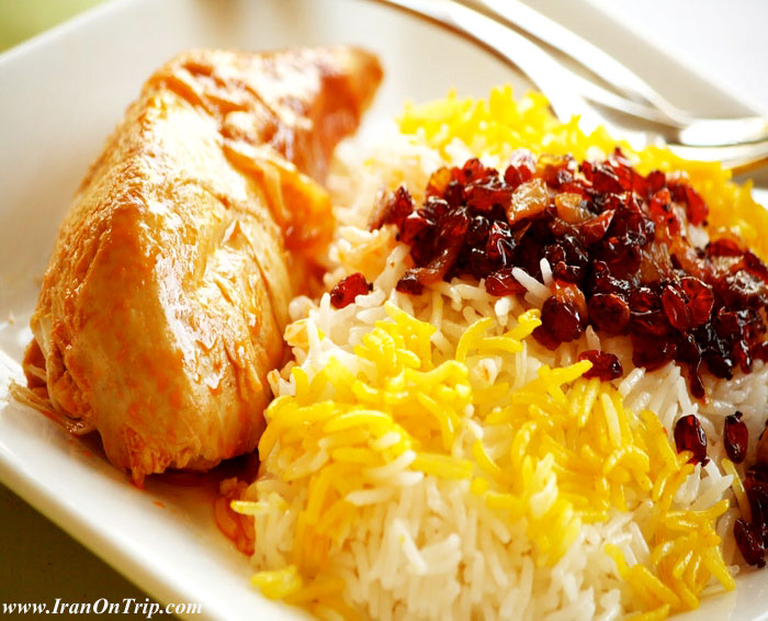 Zereshk Polo - Iranian Food - Persian Cuisine - Persian Cooking - Iranian Cooking