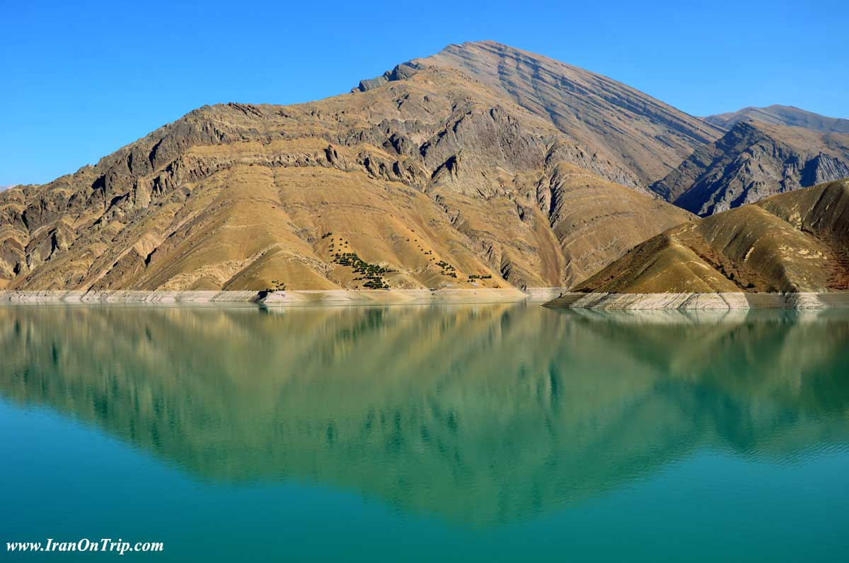 Chalus Road in Iran - Chaloos Road of Iran - Amir Kabir Lake in Iran