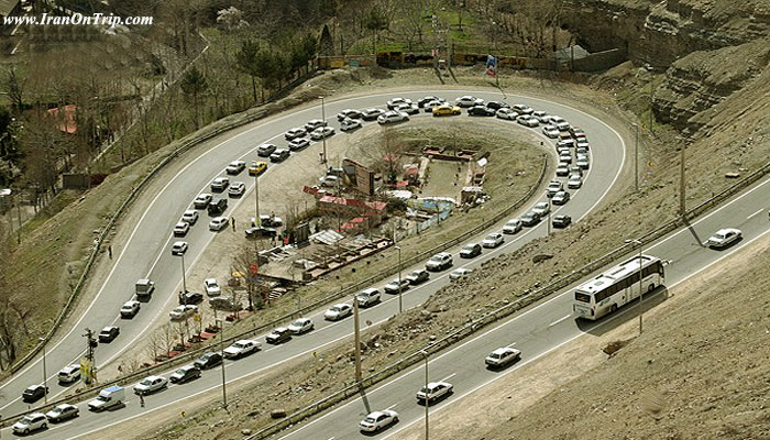 Chalus Road in Iran - Chaloos Road of Iran