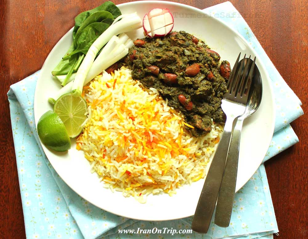 Ghormeh Sabzi  - Persian Cooking - Persian Herb Stew - Iranian foods - Persian Foods