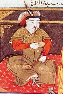 Painting of Hulagu Khan  by Rashid-al-Din Hamadani  early 14th century